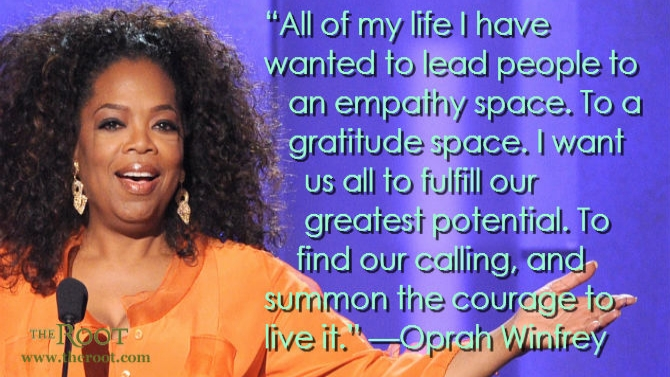 Oprah transforming the world cover story soul life times Better homes and gardens episode last night